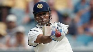 MS Dhoni: Test career in photos