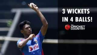Mustafizur Rahman takes 3 wickets in 4 balls in 1st Bangladesh vs South Africa Test at Chittagong