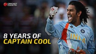 MS Dhoni celebrates 8th anniversary of captaincy debut
