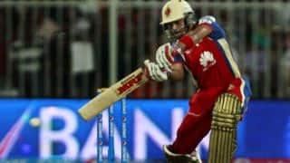 Virat Kohli on the attack for Royal Challengers Bangalore against Chennai Super Kings in IPL 2014