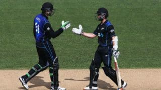 New Zealand beat Pakistan by 3 wickets in a rain-curtailed 3rd ODI at Auckland; seal series 2-0