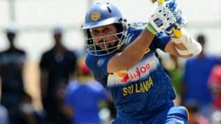 Tilakaratne Dilshan dismissed for 0 by Ravichandran Ashwin against India in 2nd T20I at Ranchi
