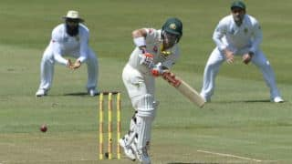 South Africa vs Australia, 1st Test: David Warner departs after scoring fifty at lunch, Day 1