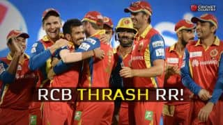 RCB thrash RR by 71 runs in IPL 2015 Eliminator; to meet CSK in Qualifier 2