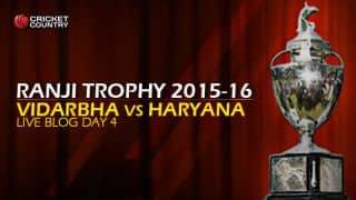 HAR 232/9 | Live Cricket Score Vidarbha vs Haryana, Ranji Trophy 2015-16, Group A match, Day 4 at Nagpur
