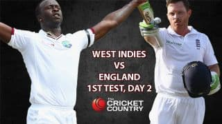 Live Cricket Score WI vs ENG, 1st Test, WI 155/4: Close of play