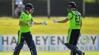 Balbirnie, Delany fifties down Scotland for Ireland's first win