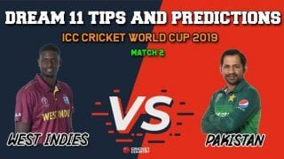 Dream11 Prediction: WI vs PAK, Cricket World cup 2019, Match 2 Team Best Players to Pick for Today's Match between West Indies and Pakistan at 3 PM