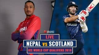 Live Cricket Score, NEP vs SCOT, WC Qualifiers 2018, Match 11: SCO win by 4 wickets