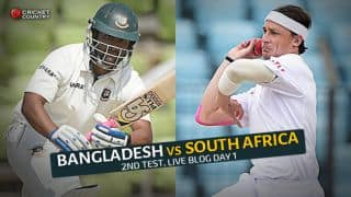 Live Cricket Score Bangladesh vs South Africa 2015, 2nd Test Day 1 BAN 246/8: Match in balance at stumps