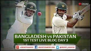 Live Cricket Score, Bangladesh vs Pakistan 2015, 1st Test at Khulna, Day 3: Pakistan 534/5 in 148 Overs at stumps