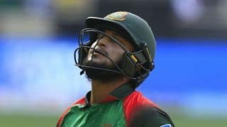 Shakib Al Hasan fined for shouting at umpire during t20 match