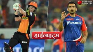 IPL 2017, Highlights in Hindi: Kane Williamson leads Sunrisers Hyderabad to 15-run win over Delhi Daredevils