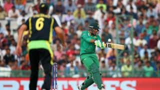 T20 World Cup 2016: Sharjeel Khan, Ahmed Shehzad dismissed early during Pakistan's chase of 194 vs Australia in Group 2 match at Mohali