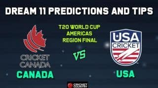 CAN vs USA Dream11 Team Canada vs USA AMERICAS REGION FINAL-T20 ICC Men's T20 World Cup Americas Region Final – Cricket Prediction Tips For Today's T20 Match at Sandys Parish