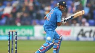 Rohit gets fifty, Rayudu departs; score 111/3 in 23 overs
