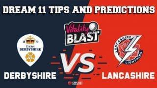 Dream11 Team Derbyshire vs Lancashire North Group VITALITY T20 BLAST ENGLISH T20 BLAST – Cricket Prediction Tips For Today's T20 Match DER vs LAN at Manchester