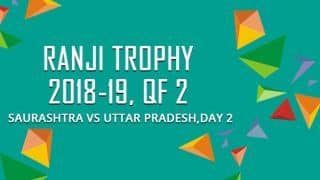 Ranji Trophy 2018-19, Quarter-final 2, Day 2: Shivam Mavi takes 3 as Saurashtra reduced to 170/7 versus Uttar Pradesh