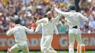 Lyon takes wicket amidst crowd cheer in opening day of Boxing Day Test