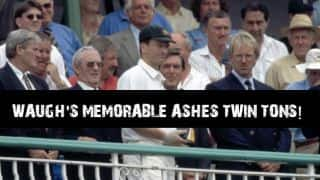 VIDEO: Steve Waugh's twin centuries against England in Ashes 1997 at Old Trafford