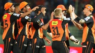 IPL 2015: Sunrisers Hyderabad beat Kings XI Punjab by 20 runs in Match 27 at Mohali