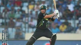 Aaron Finch completes his 4th ODI half-century against South Africa in 2nd ODI