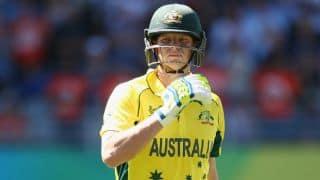Steven Smith dismissed by Ravindra Jadeja for 41 in India vs Australia 2015-16, 3rd ODI at Melbourne