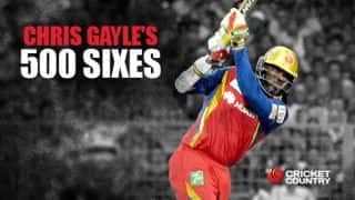 Chris Gayle's 500 sixes in T20 cricket: some numbers