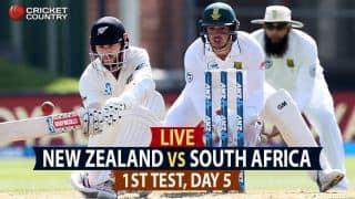 Live Cricket Score, New Zealand vs South Africa, 1st Test, Day 5: Match drawn