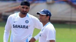 Harbhajan Singh imitates Sachin Tendulkar after maiden Test ton