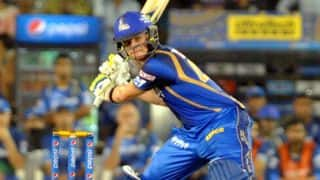 Steven Smith dismissed for duck by Akshar Patel against Kings XI Punjab in Match 18 of IPL 2015