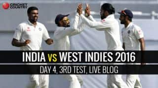 IND 157/3, 39 Overs IND vs WI 3rd Test, Day 4 Live Updates: STUMPS