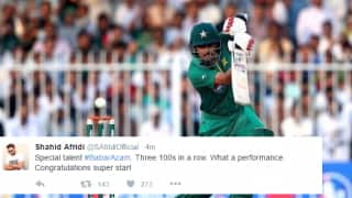 Babar Azam scores 3rd consecutive ODI hundred against West Indies; Twitterati hail his effort