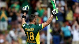 Riding on Faf du Plessis' 185, South Africa set Sri Lanka 368 to win in 4th ODI at Cape Town