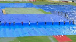 Match stopped due to rain