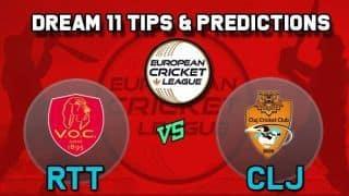 Dream11 Team VOC Rotterdam vs Cluj Cricket Club Group A European Cricket League-T10 – Cricket Prediction Tips For Today's T10 Match RTT vs CLJ at La Manga Club