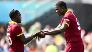 West Indies continue to bowl tight against India in ICC Cricket World Cup 2015
