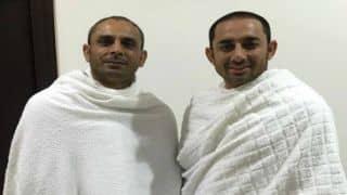 Saeed Ajmal, Azhar Ali and other Pakistani cricketers perform Hajj