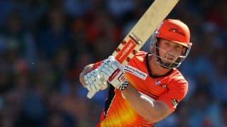 Shaun Marsh scores his 32nd T20 half-century