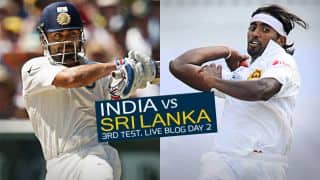 IND 292/8 | Live Cricket Score, India vs Sri Lanka 2015, 3rd Test in Colombo, Day 2, STUMPS: Rain forces closure of play after India are led to gain control via Cheteshwar Pujara