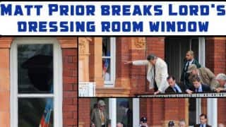 Matt Prior breaks Lord's dressing room window, injures spectator