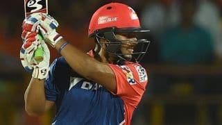 दिल्ली डेयरडेविल्स ने कोलकाता नाइट राइडर्स के सामने रखा 169 रनों का लक्ष्य