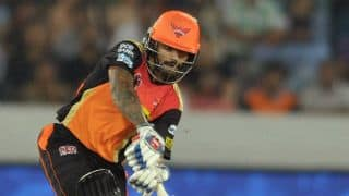 Shikhar Dhawan guides SRH to 5-wicket win over GL in IPL 2016 Match 34 at Hyderabad