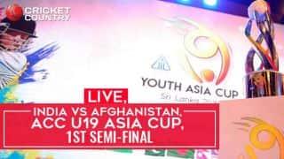 Live Cricket Score, India U19 vs Afghanistan U19, ACC U19 Asia Cup, 1st semi-final: IND win by 77 runs
