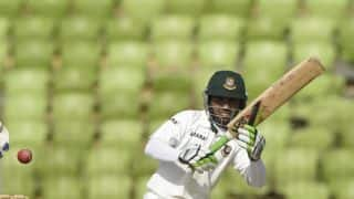Mominul Haque dismissed after scoring his 10th half-century in Test cricket
