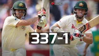 Chris Rogers, Steven Smith propel Australia to 337/1 against England at stumps on Day 1 of second Ashes Test at Lord's