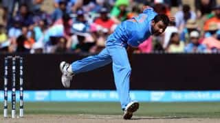 India vs West Indies, 2nd T20I 2016: Evin Lewis dismissed for 7 by Mohammed Shami
