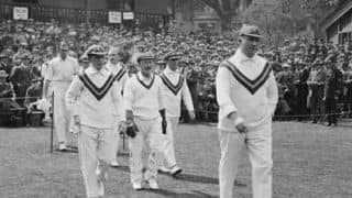 Warwick Armstrong bowls two successive overs in the same innings in a Test
