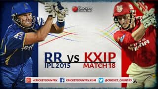 Live Cricket Score, Rajasthan Royals vs Kings XI Punjab, IPL 2015, Match 18 at Ahmedabad: Kings XI Punjab win by Super Over