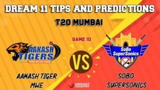 Dream11 Prediction: AT vs SS Team Best Players to Pick for Today's Match between Aakash Tigers MWS and Sobo Supersonics at 7:30 PM